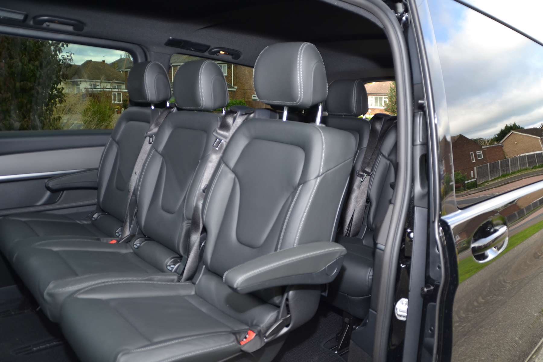 Seven Leather Upholstered Seats and masses of luggage space